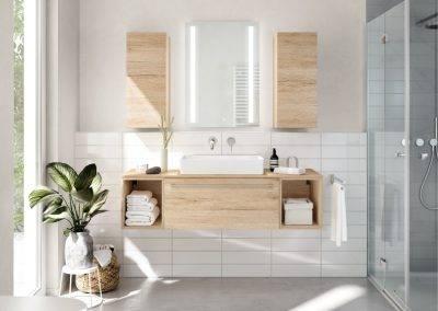 Salle de bain bois moderne