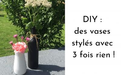 DIY : des vases stylés avec 3 fois rien !