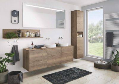 Salle de bain moderne bois