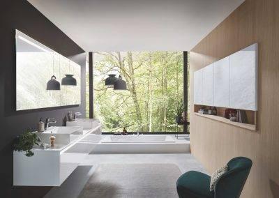 Salle de bain blanche design